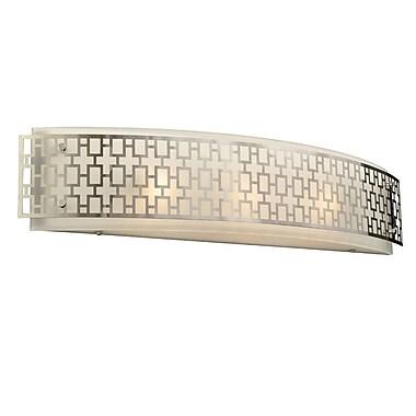 Willa Arlo Interiors Brocka 3-Light Bath Bar; 60W A19