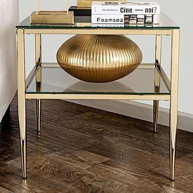 Willa Arlo Interiors Ignacio Open Shelf End Table; Gold