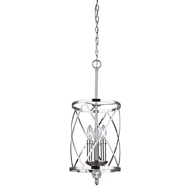 Willa Arlo Interiors Arik 3-Light Pendant; Brushed Nickel