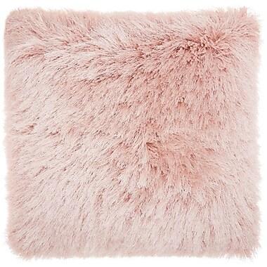 Willa Arlo Interiors Bowyer Shag Throw Pillow; Rose