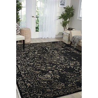 Darby Home Co Hadley Hand-Tufted Black Area Rug; 9'9'' x 13'9''