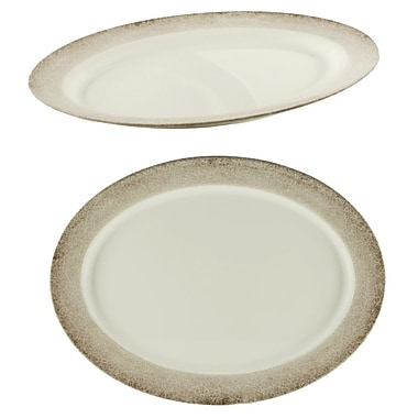Bloomsbury Market Hector Oval Platter; 1.69'' H x 20.94'' W x 20.94'' D