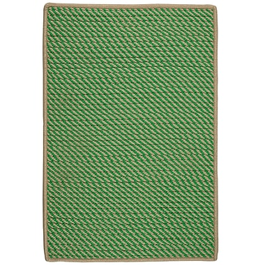 Bay Isle Home Mammari Hand-Woven Green Indoor/Outdoor Area Rug; Square 6'