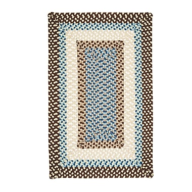 Bay Isle Home Marathovounos Border Bright Brown Kids Indoor/Outdoor Area Rug; Square 4'