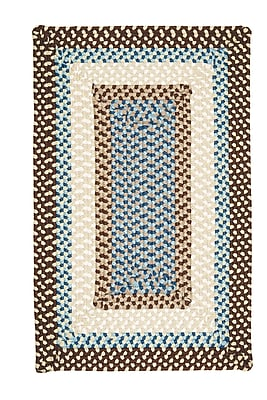 Bay Isle Home Marathovounos Border Bright Brown Kids Indoor/Outdoor Area Rug; Square 12'