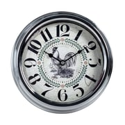 August Grove Dale Rooster 9.25'' Wall Clock