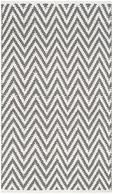 Varick Gallery Whitton Hand-Woven Grey/Ivory Area Rug; Runner 2'3'' x 9'