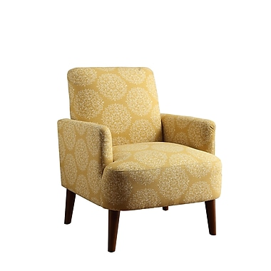 Bungalow Rose Eugenia Contemporary Arm Chair; Yellow Dandelion
