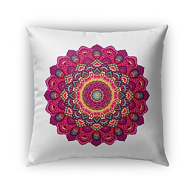 Bungalow Rose Grove Hill Indoor/Outdoor Thow Pillow; 18'' x 18''