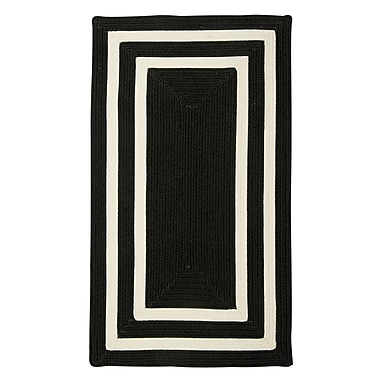 Bay Isle Home Marti Hand-Woven Outdoor Black Area Rug; Square 10'