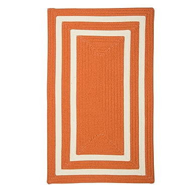 Bay Isle Home Marti Hand-Woven Outdoor Orange Area Rug; Runner 2' x 8'