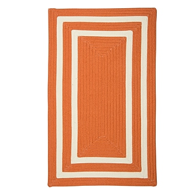 Bay Isle Home Marti Hand-Woven Outdoor Orange Area Rug; 3' x 5'