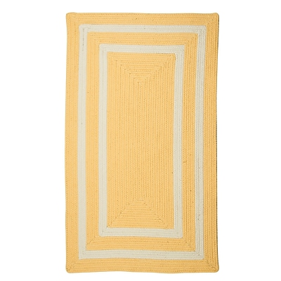 Bay Isle Home Marti Hand-Woven Outdoor Yellow Area Rug; 3' x 5'