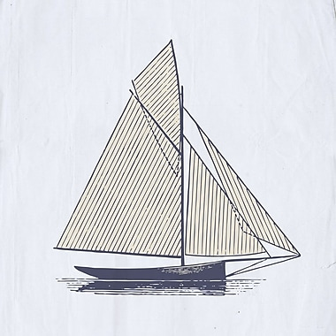 Buy Art For Less Gallery 'Simple Summer Sailboat' Framed Graphic Art Print on Wrapped Canvas