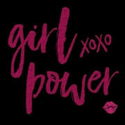 Buy Art For Less Gallery 'Girl Power XoXo' Framed Textual Art on Wrapped Canvas; 24'' H x 24'' W