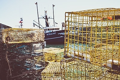 Buy Art For Less Gallery 'Lobster Traps I' Framed Photographic Print on Wrapped Canvas