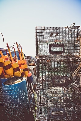 Buy Art For Less Gallery 'Lobster Traps III' Framed Photographic Print on Wrapped Canvas