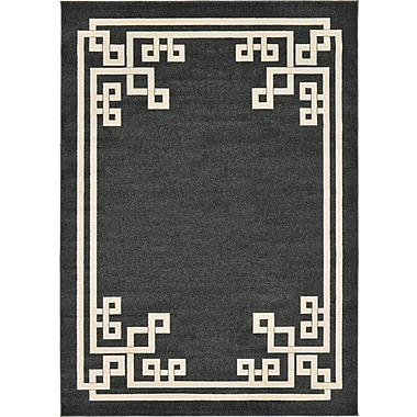 Willa Arlo Interiors Ellery Black Area Rug; 7' x 10'
