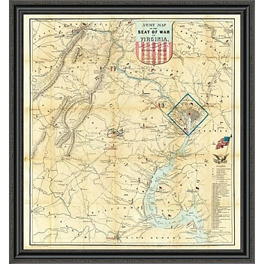 East Urban Home 'Army Map of the Seat of War in Virginia; 1862' Framed Print