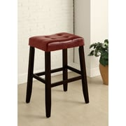 Alcott Hill Lyndale Saddle 29'' Bar Stool (Set of 2); Red