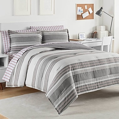 IZOD Caldwell 100pct Cotton Comforter Set; Full/Queen
