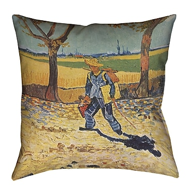 Darby Home Co Zamora Self Portrait Square Throw Pillow; 18'' x 18''