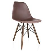 Varick Gallery Whiteaker Molded Plastic Dining Chair; Brown/Dark Walnut