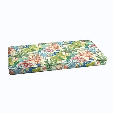 Bayou Breeze Evadne Corded Outdoor Bench Cushion; 48'' x 19''