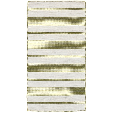 Highland Dunes Cayman Hand-Woven Green Area Rug; 8' x 11'