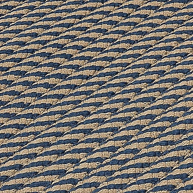 Bay Isle Home Mammari Striped Hand-Woven Blue Indoor/Outdoor Area Rug; Square 6'