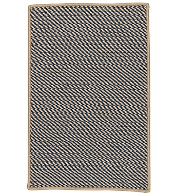 Bay Isle Home Mammari Striped Hand-Woven Blue Indoor/Outdoor Area Rug; 8' x 11'