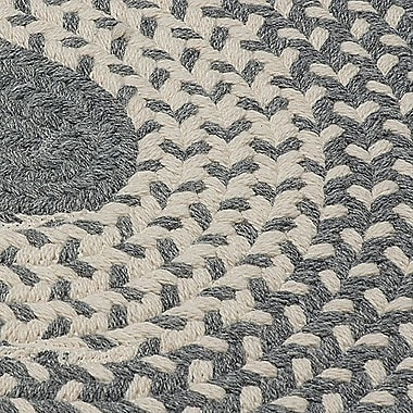 Winston Porter Melody Hand-Woven Gray Area Rug; Round 8'