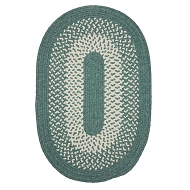 Winston Porter Melody Hand-Woven Green Area Rug; Oval 2' x 8'