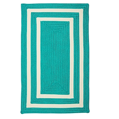Bay Isle Home Marti Hand-Woven Outdoor Blue Area Rug; Square 4'