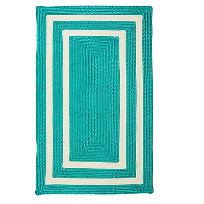 Bay Isle Home Marti Hand-Woven Outdoor Blue Area Rug; 2' x 3'