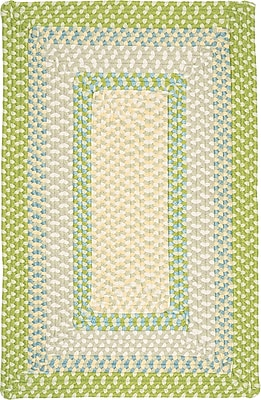 Bay Isle Home Marathovounos Lime Twist Kids Indoor/Outdoor Area Rug; Square 4'