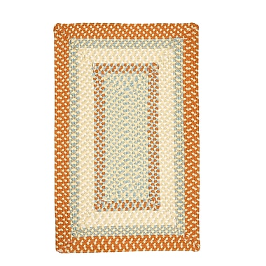 Bay Isle Home Marathovounos Tangerine Kids Indoor/Outdoor Area Rug; Square 4'