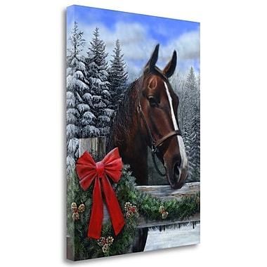 Loon Peak 'Holiday Horse' Acrylic Painting Print on Wrapped Canvas; 47'' H x 35'' W