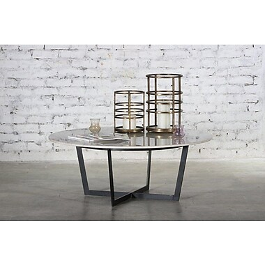 Everly Quinn Raymond Marble Top Coffee Table