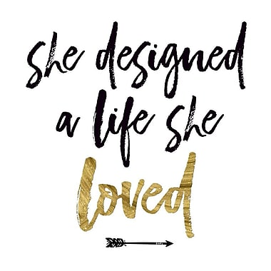 Buy Art For Less Gallery 'She Designed a Life She Loved' Framed Textual Art on Wrapped Canvas