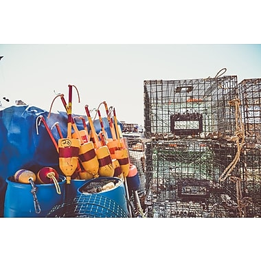 Buy Art For Less Gallery 'Lobster Traps II' Framed Photographic Print on Wrapped Canvas