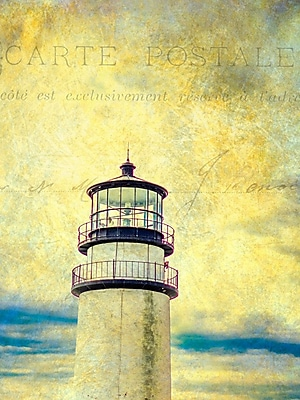 Buy Art For Less Gallery 'Carte Postale Lighthouse' Framed Print on Wrapped Canvas; 24'' H x 16'' W