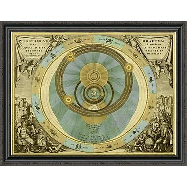 East Urban Home 'Maps of the Heavens: Planisphaerium Braheum' Framed Print; 24'' H x 32'' W x 1.5''D