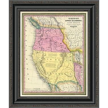 East Urban Home 'Oregon; Upper California & New Mexico; 1849' Framed Print