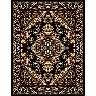 Astoria Grand Stevens Oriental Classic Black/Beige Indoor Area Rug