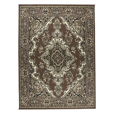 Astoria Grand Stevens Oriental Classic Rectangle Brown/Beige Indoor Area Rug