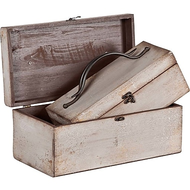 Union Rustic 2 Piece Traditional Wood Almoco Box Set
