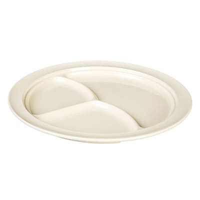Winston Porter Ada 3 Compartment Divided Serving Dish (Set of 12); Pearl