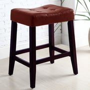 Alcott Hill Lyndale Saddle 24'' Bar Stool (Set of 2); Red