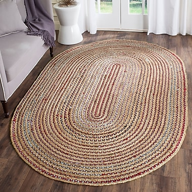 Highland Dunes Arria Hand-Woven Natural Area Rug; Rectangle 3' x 5'